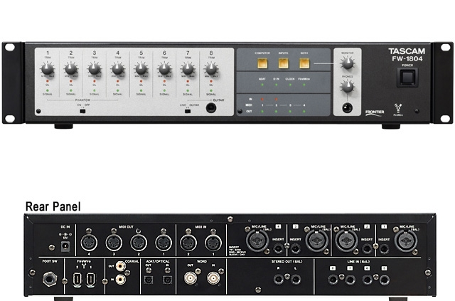 Tascam FW-1804 | Studio Recording Mastering Music Productions. Cue Studio Records is a modern and well-equipped recording and mastering studio in Thessaloniki.