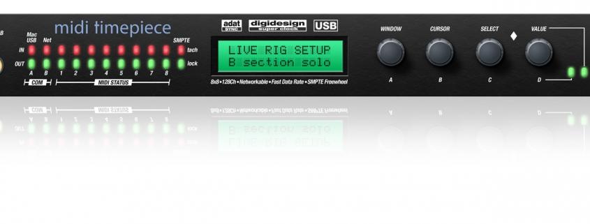 MOTU MTP AV Midi Timepiece | Στούντιο Ηχογράφησης Mastering Μουσικές Παραγωγές. Το CUE είναι ένα σύγχρονο και άρτια εξοπλισμένο στούντιο ηχογράφησης και Mastering στη Θεσσαλονίκη.