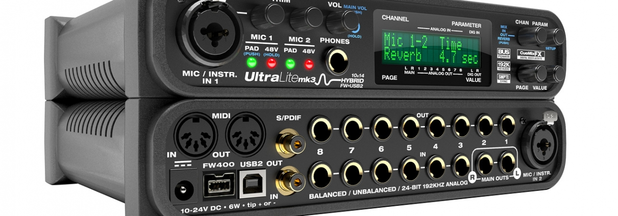 MOTU Ultralite Mk3 H (Midi Room) | Studio Recording Mastering Music Productions. Cue Studio Records is a modern and well-equipped recording and mastering studio in Thessaloniki.